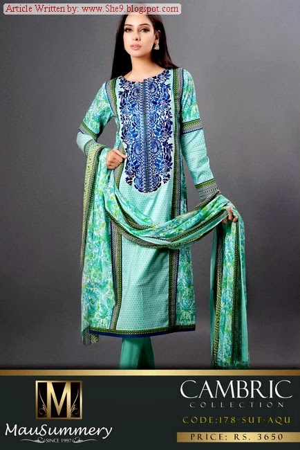 Mausummery Cambric Fall / Winter Dress Collection 2014-2015