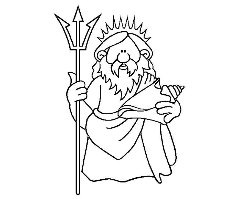 Poseidon Pages Coloring Pages Poseidon Coloring Pages
