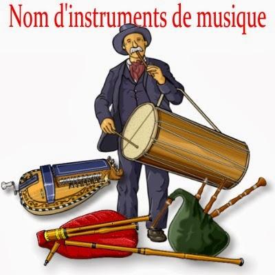 Français : Nom d'instruments de musique. 楽器の名前 フランス語
