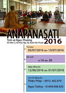 Khóa Thiền Anapanasati