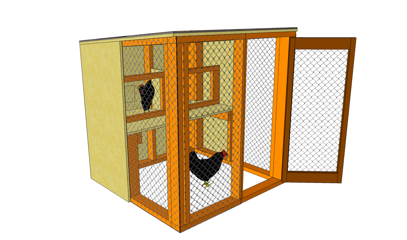 Building chicken coops chicken coop plans free download A frame blueprints