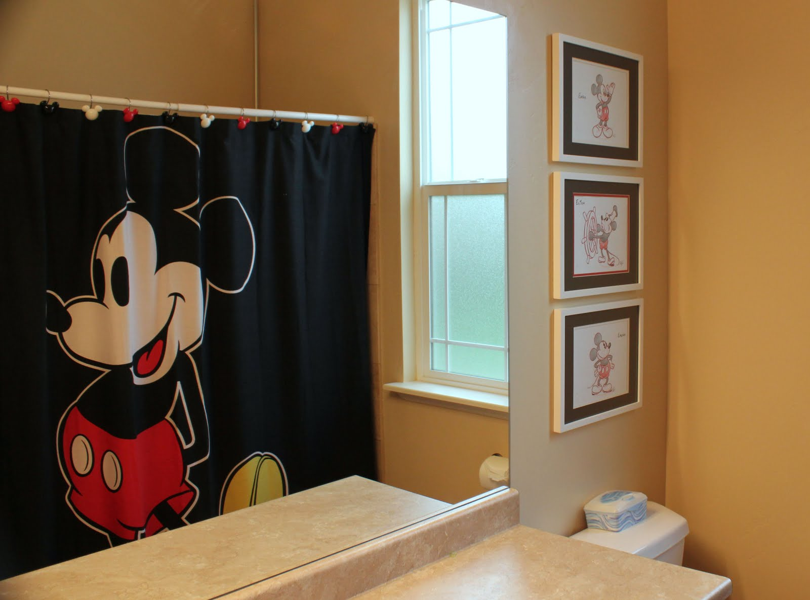 Grow old along with me mickey mouse bathroom for Mickey mouse bathroom ideas