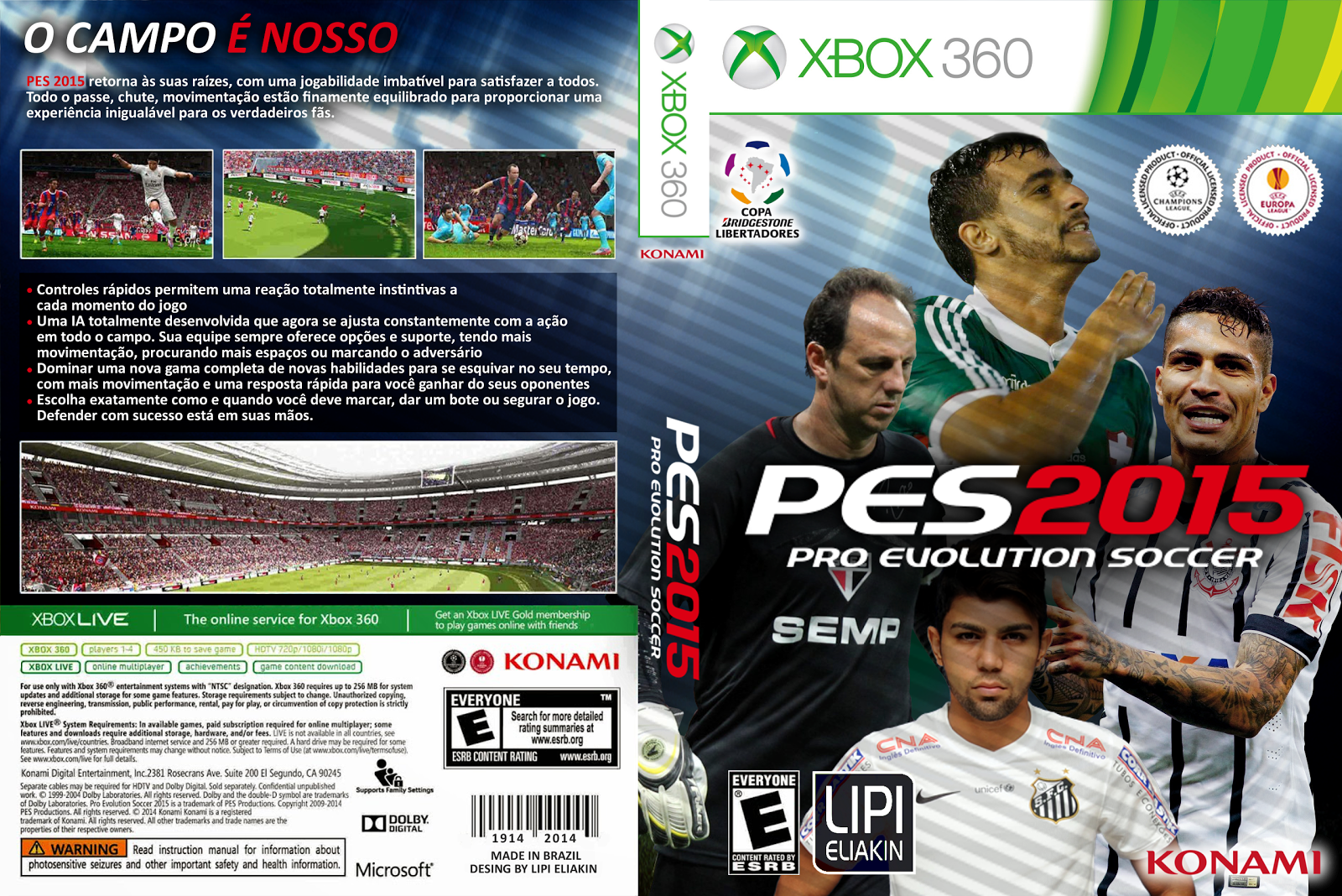 Capa PES 2015 Xbox 360 [Exclusiva]