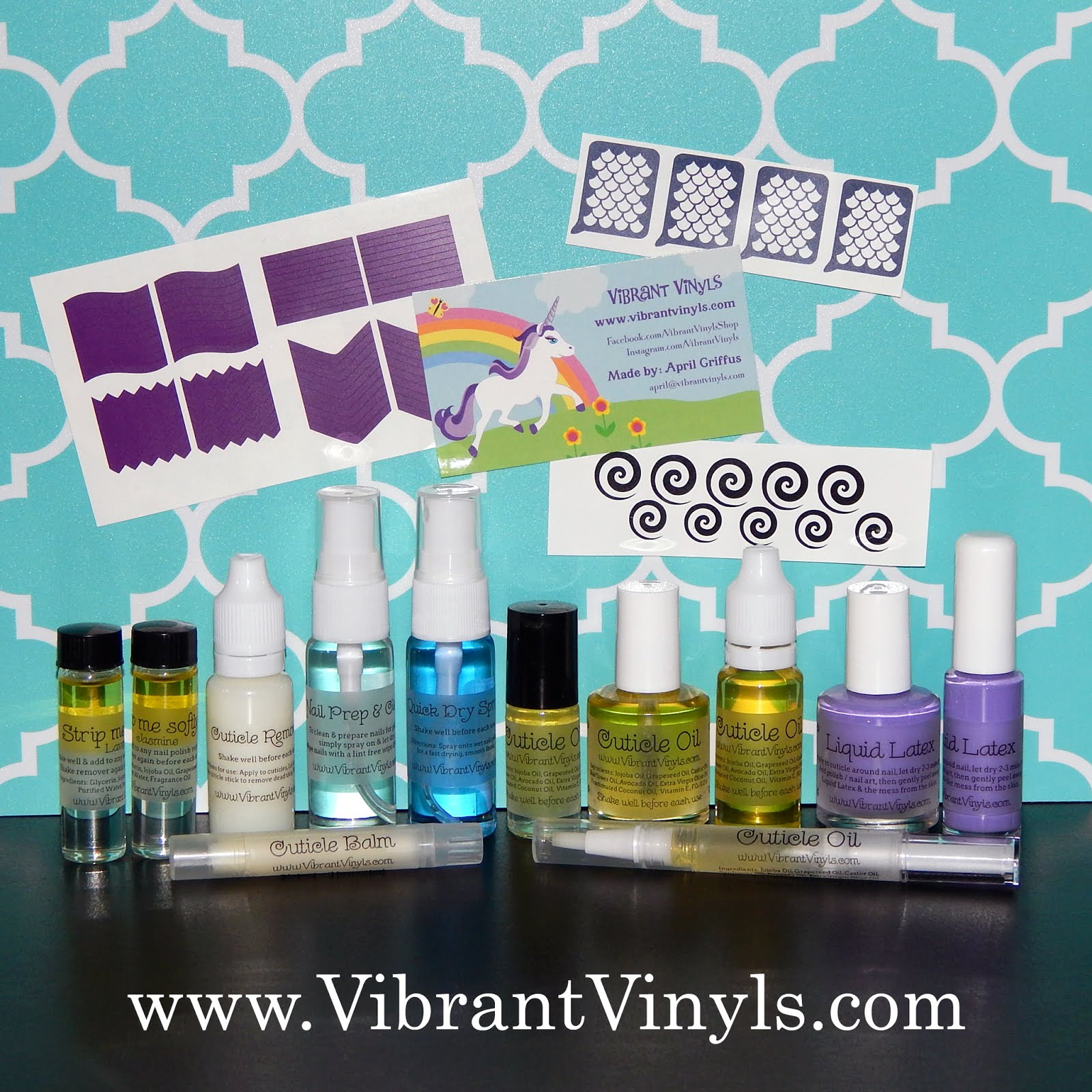 Featuring a full line of nail art & nail care products!