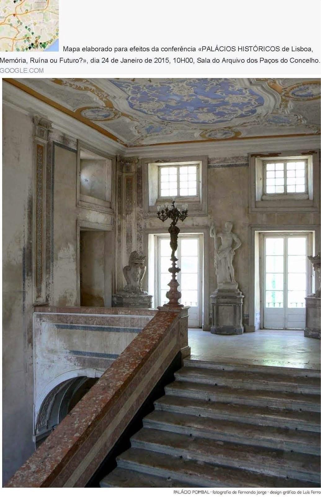 """Mapa """"Palácios Históricos de Lisboa"""""""