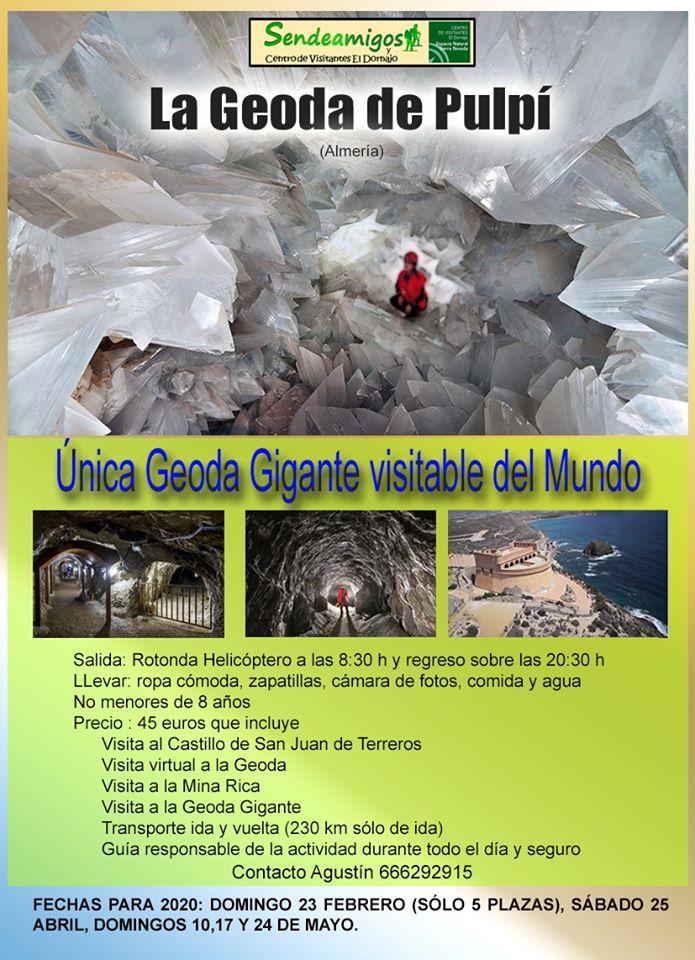 VISITA GEODA DE PULPÍ 16, 17, 24 Y 25 MAYO 2020