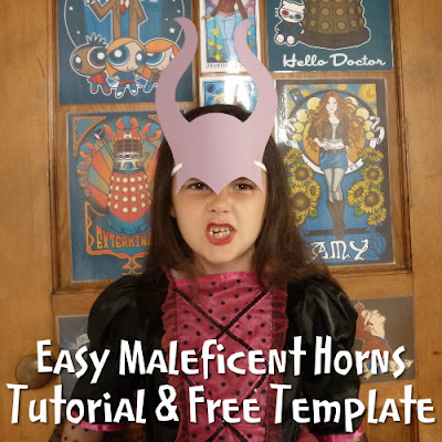 Make a quick and easy set of paper horns for Maleficent costume accessory