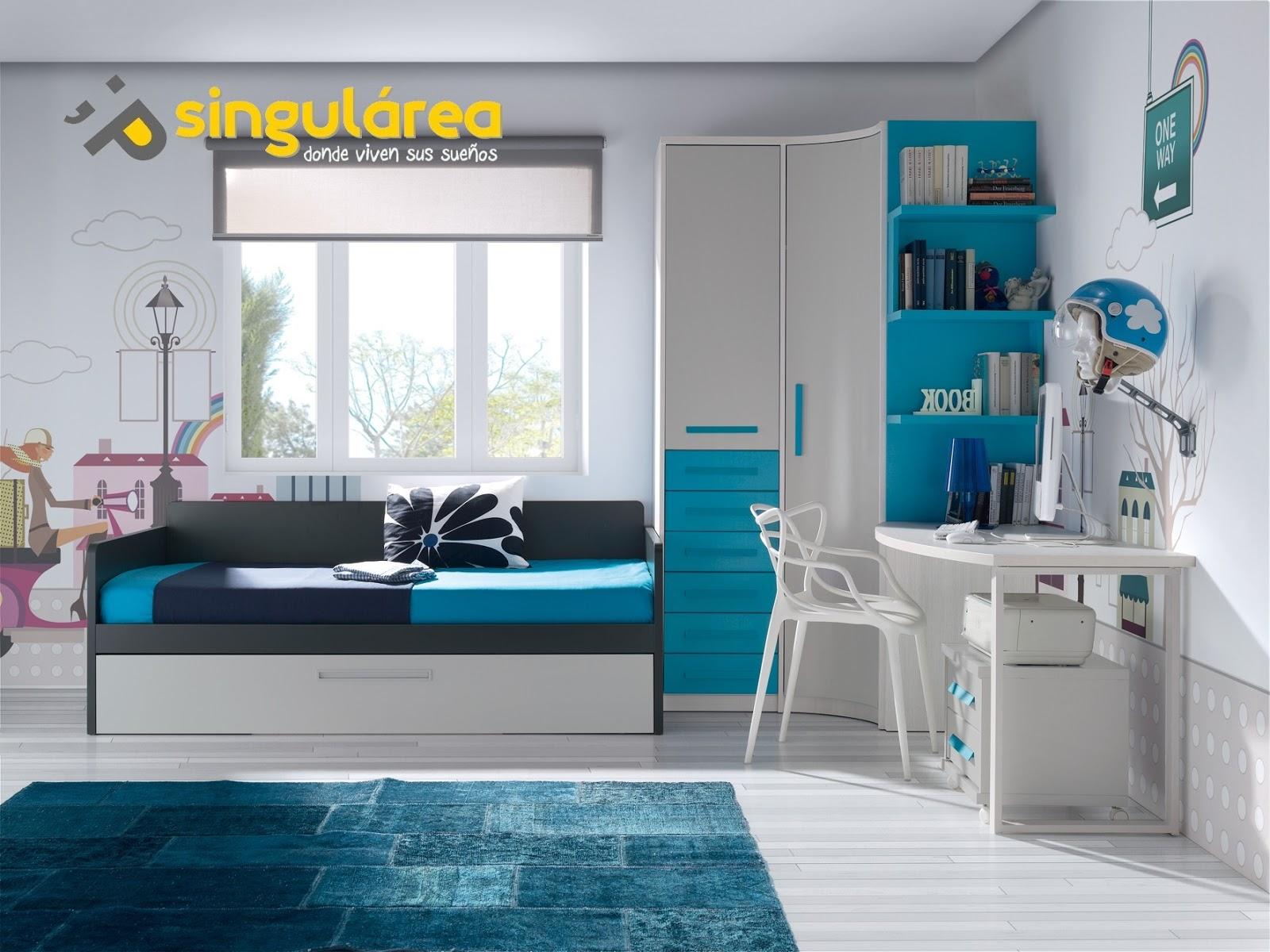Dormitorio infantil con armario 1498 for Muebles habitacion ninos