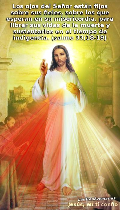 jesus misericordioso con un salmo