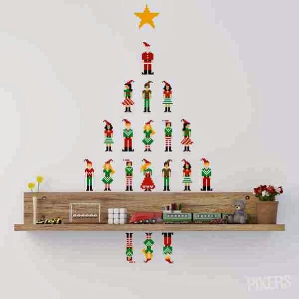 Dekoracja wnętrz świątecznych - naklejki na ścianie