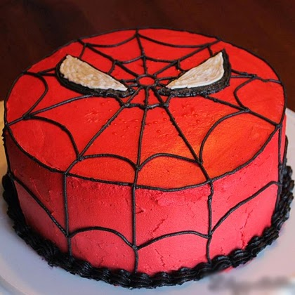 Spider-Man Birthday Cake (Tutorial)