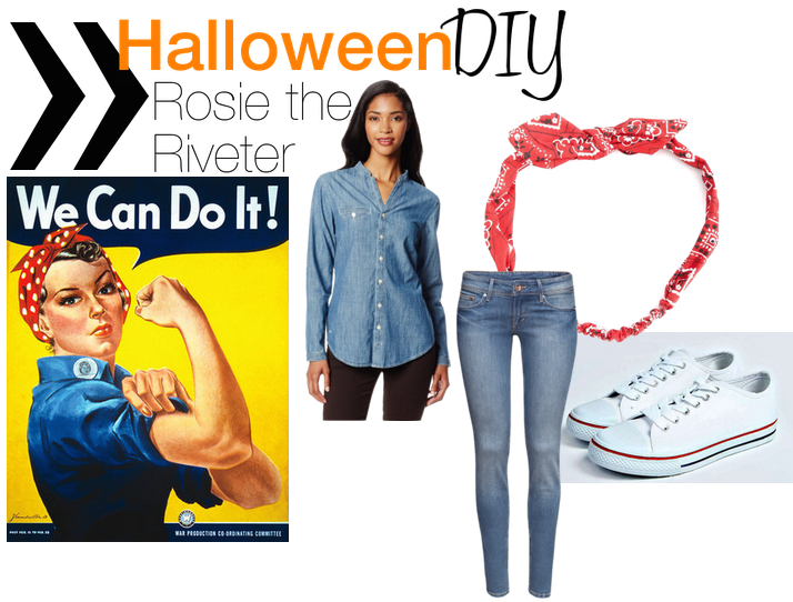 halloween, costume idea, diy costume, diy, rosie the riveter