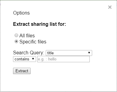 Extract Options