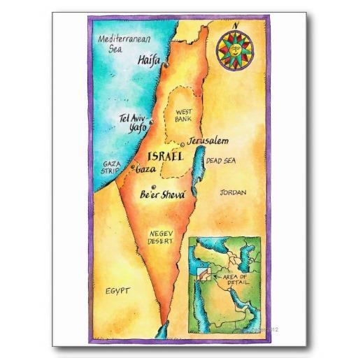 israel en el mapa