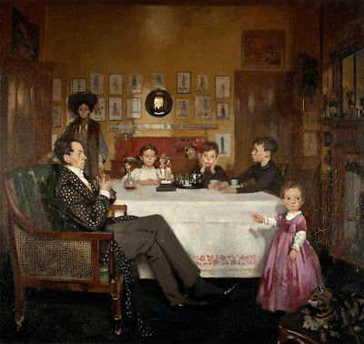 William Orpen - A Bloomsbury Family, 1907