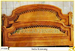 Tempat tidur kayu jati ukir jepara India Krawang murah.Jakarta