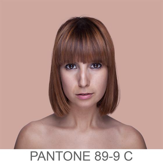 Retratos humanos em cores Pantone