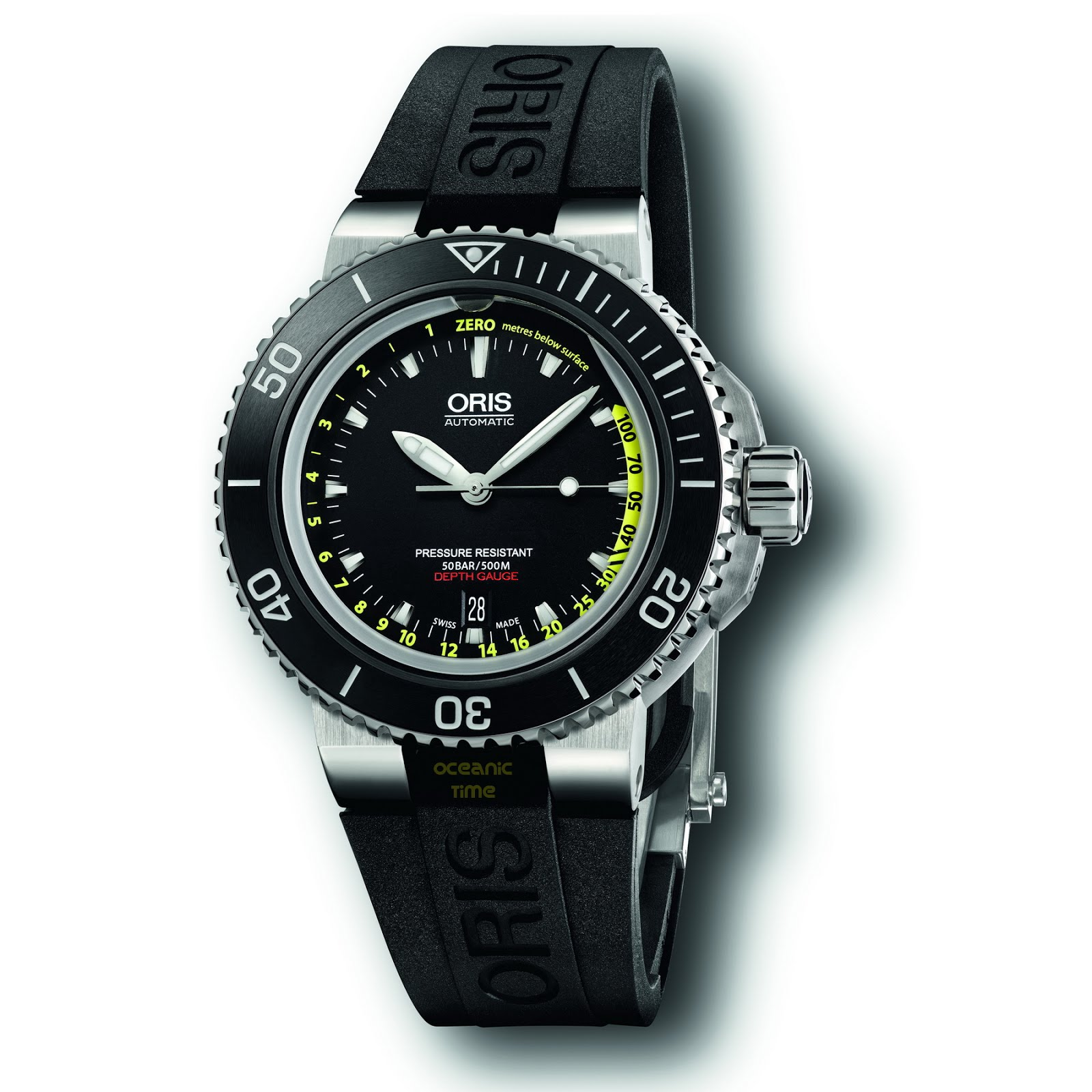 Oceanictime oris aquis depth gauge for Oris watches