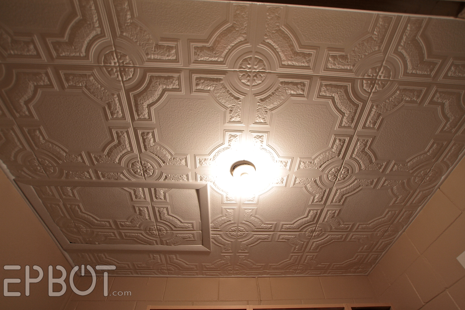 Epbot diy faux tin tile ceiling dailygadgetfo Images