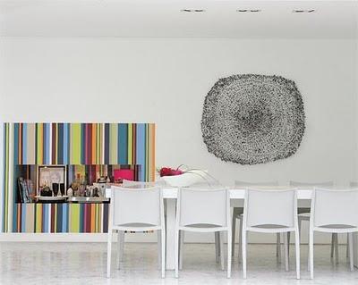 papel de parede listras coloridas