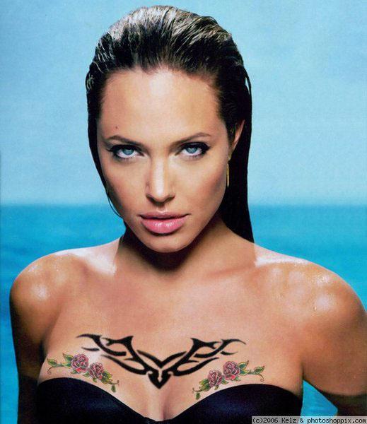 Tattoos of Angelina Jolie