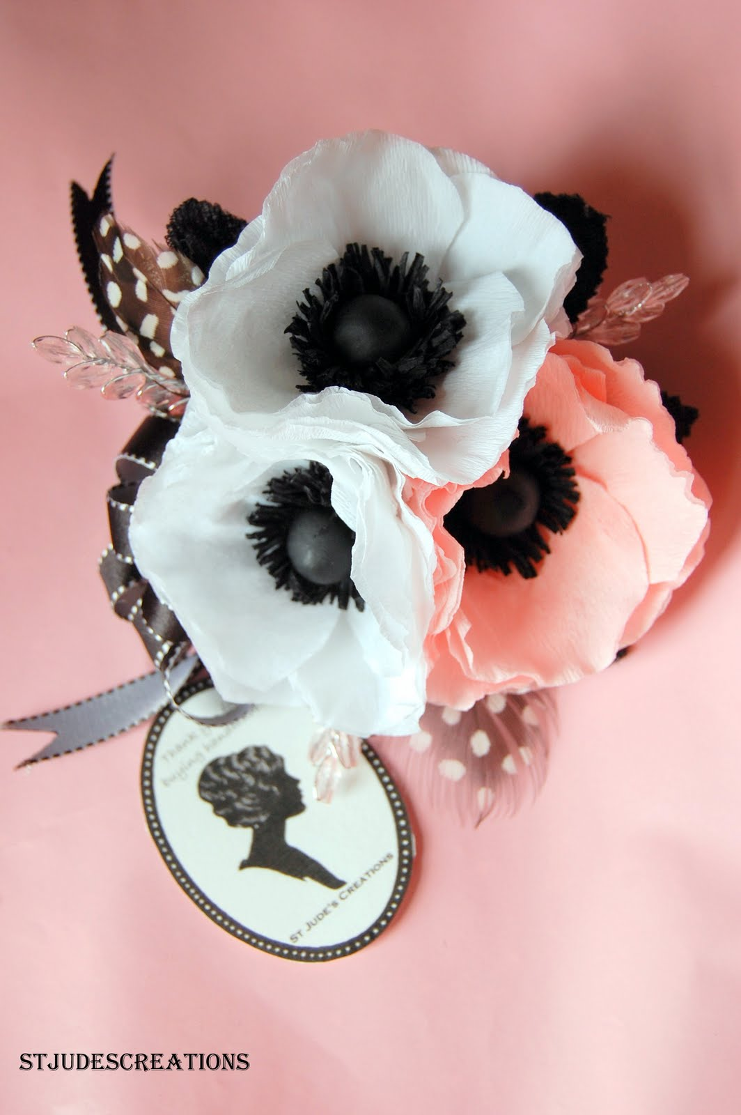 Prom Anemone Wrist Corsage And Boutonnierre For Scarlett Handmade