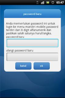 setting pasword mobile banking mandiri