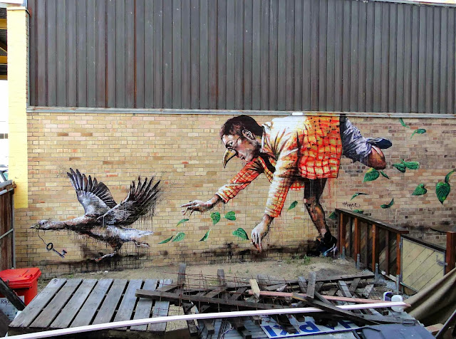 """Missing Keys"" New Mural By Fintan Magee On The Streets Of Brisbane, Australia. 1"