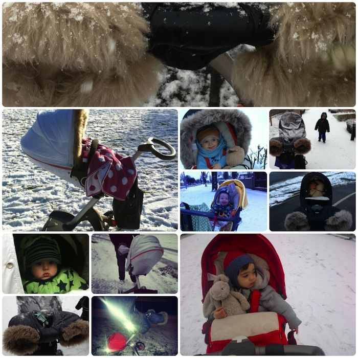 Stokke Xplory in the snow