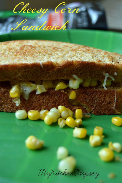 corn cheese sandwich2