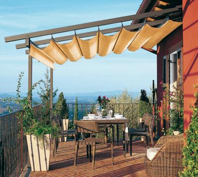Muebles y decoraci n de interiores toldos y p rgolas para - Toldos y pergolas para terrazas ...