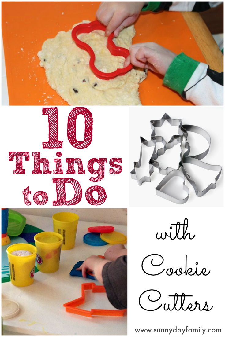 10 fun things to do with cookie cutters! Toddlers and preschoolers love these easy, no prep activities