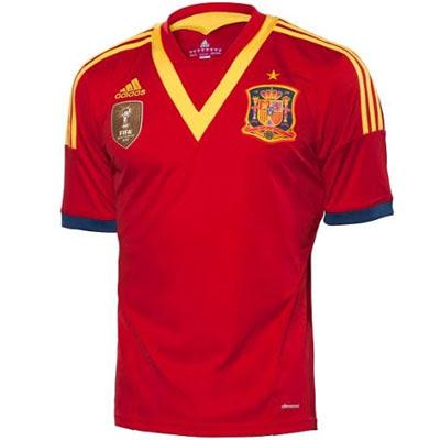 camiseta España Copa Confederaciones 2013 selección española de fútbol