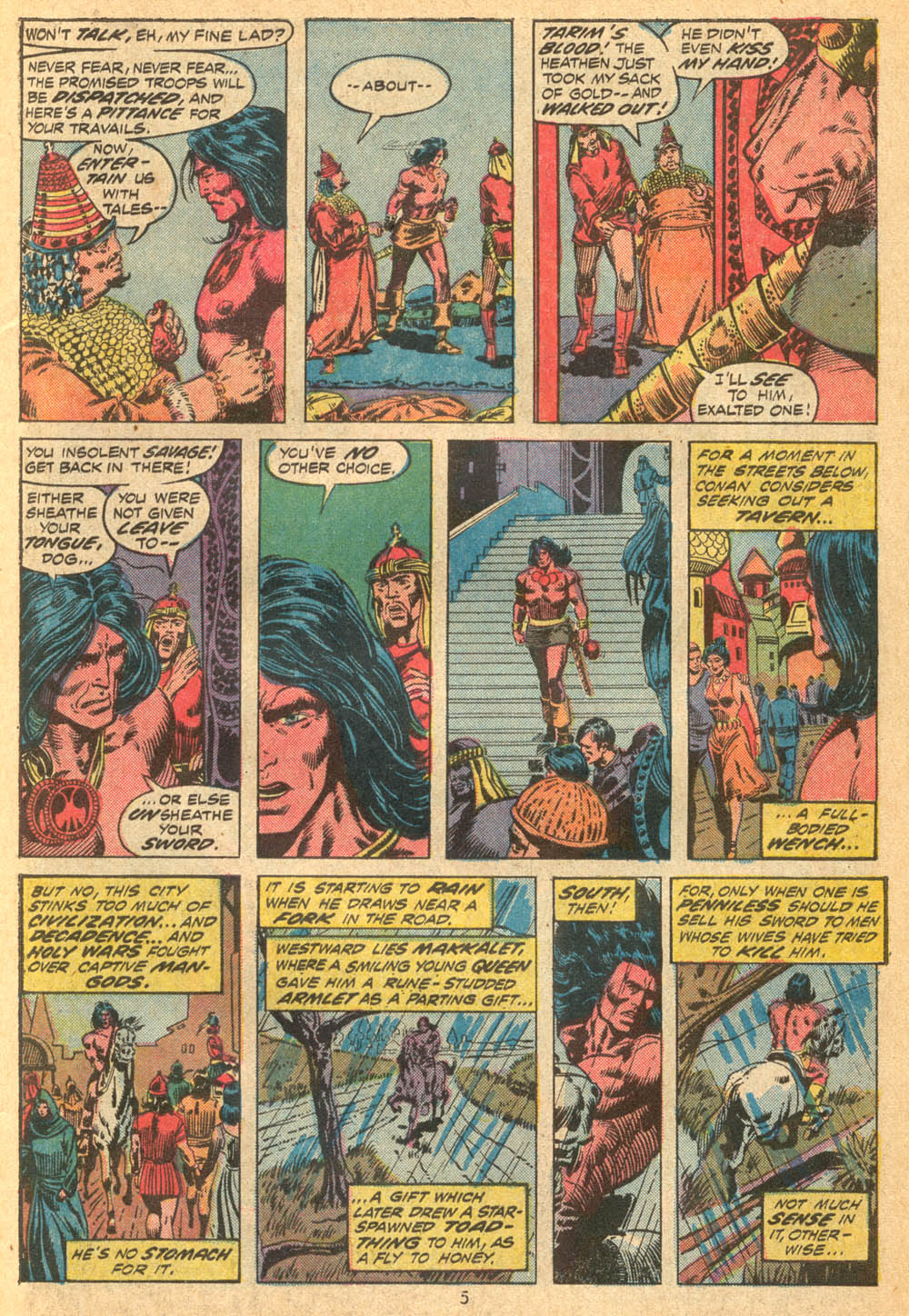 Conan the Barbarian (1970) Issue #23 #35 - English 5