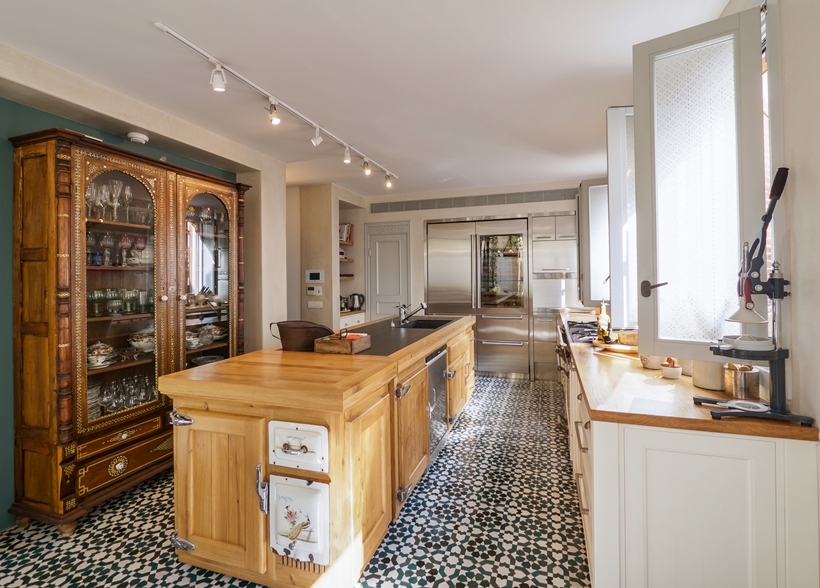 Kitchen in the Townhouse decorated in the style of old Neve Tzedek, Israel