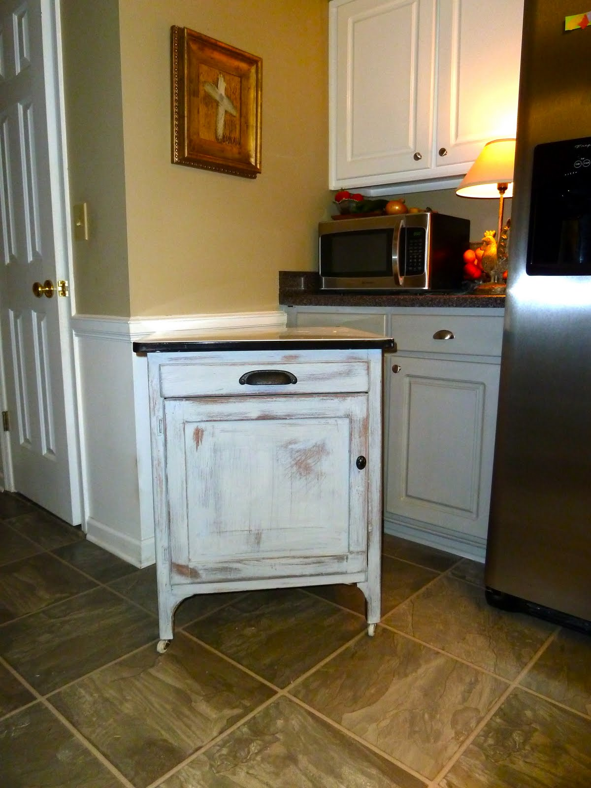 White Enamel Kitchen Cabinets