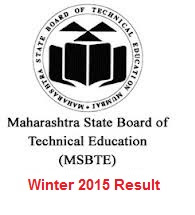MSBTE Winter 2015 RESULT