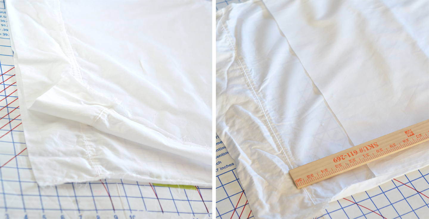 How to Make Standard Shams out of King Pillowcases + How Not to Add ...