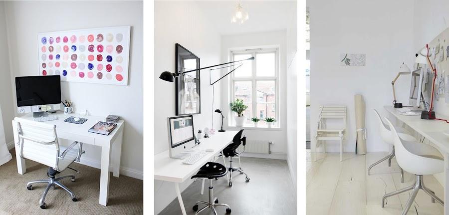 Zonas para trabajar en casa decoraci n for Trabajos por debajo de la mesa
