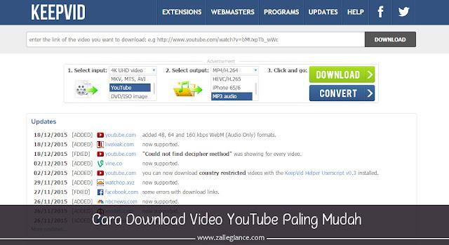 Cara Baru Download Video YouTube Dari KeepVid