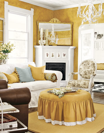 Theme design 11 living room fireplace design ideas for Yellow living room decorating ideas