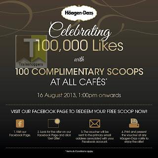 Haagen-Dazs FREE Scoops 2013