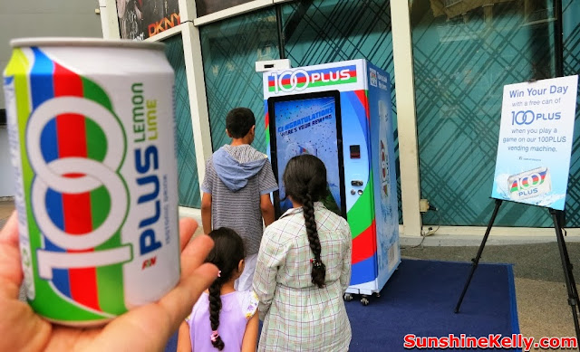 Free 100PLUS, 1st Interactive Vending Machine in Malaysia, release the can, win the day, 100Plus, isotonic drink