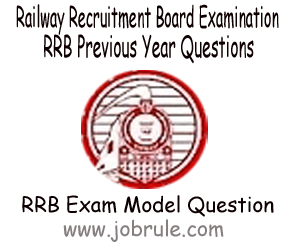 RRBs Previous Year Solve Sample/Model Question Paper Part-IV
