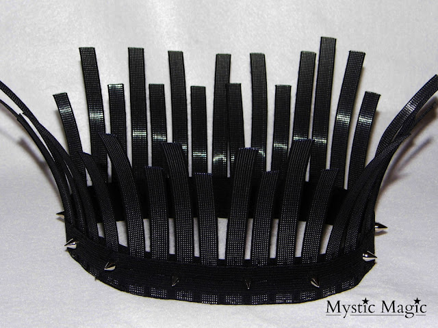 strictly come dancing, halloween, chess, headpiece, black rook headpiece, black, punk, spikes, festival headwear, hat, Mystic Magic, designer, headwear, fashion,