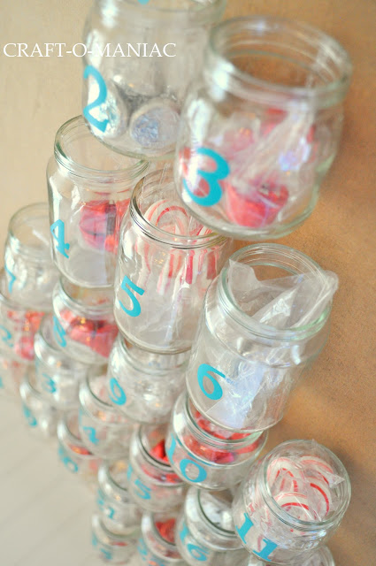 Advent Calender from Recycled Baby Food Jars - Craft-O-Maniac