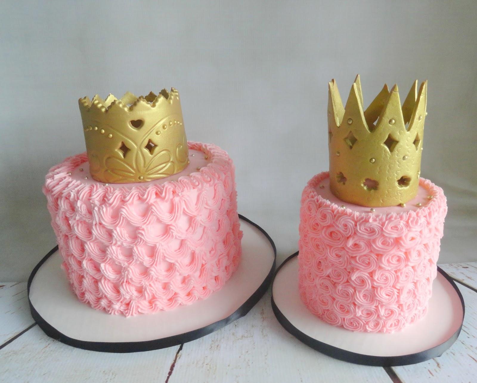 My Pink Little Cake Princess Crown Pink Birthday Cakes