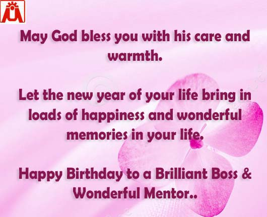 32 cool birthday wishes quotes greetings quoteganga may god bless you with all his cares and love i wish this new year of your life brings loads of beautiful days happy birthday to a brilliant boss m4hsunfo