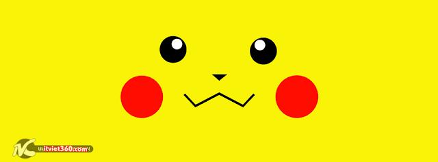 ảnh bìa Facebook đẹp nhất, pikachu