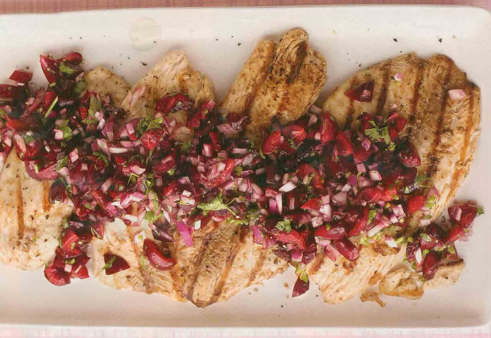 ... throughout 2 to 3 minutes serve tilapia topped with cherry salsa